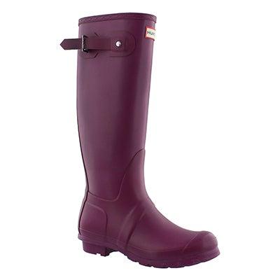 Hunter Bottes de pluie ORIG. TALL CLASSIC, violet, femmes