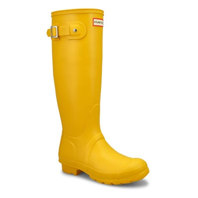Hunter Women's ORIGINAL TALL CLASSIC yellow rain boots