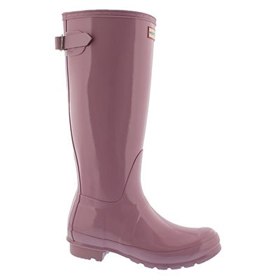 Lds Org Back Adj Gloss blossom rainboot