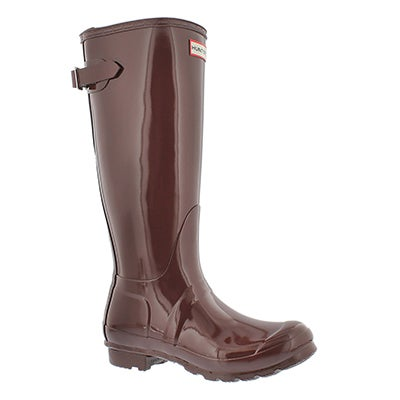 Lds Back Adj Gloss umber rainboot