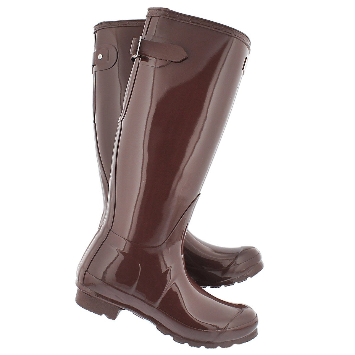 New Hunter Womenu0026#39;s Original Adjustable Gloss Rain Boots In Green | Lyst
