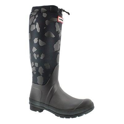 Lds Terazzo Print Tour blk rain boot