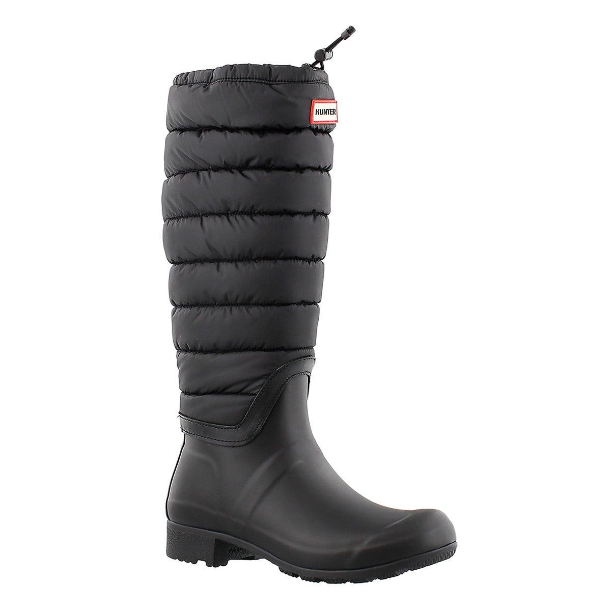 Lds Original Quilted Leg black rain boot