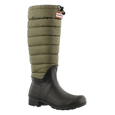 Hunter Women's ORIGINAL QUILTED LEG swamp rain boots