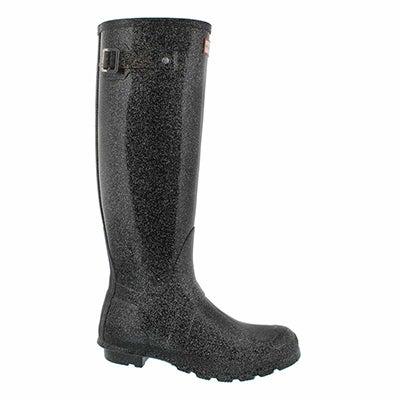 Lds OrgTall Starcloud black rain boot