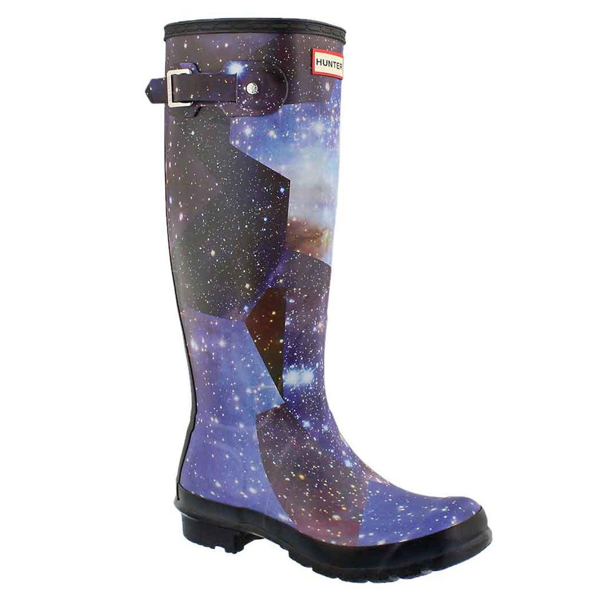 Women's ORIGINAL TALL SPACE CAMO mdngt rain boots