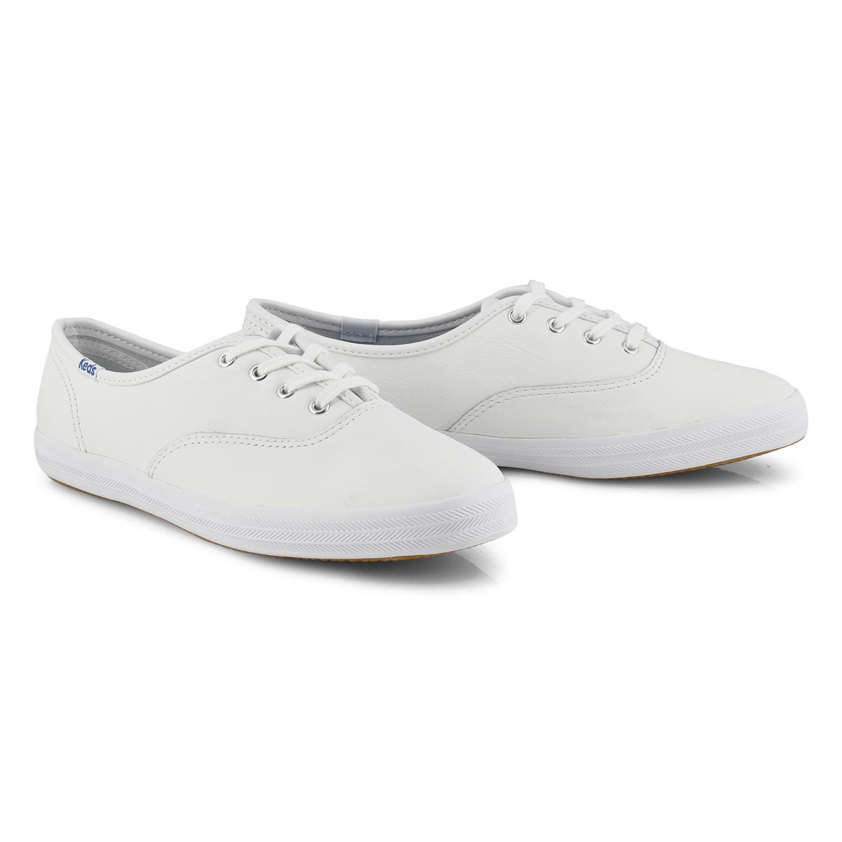 leather keds champion white oxford