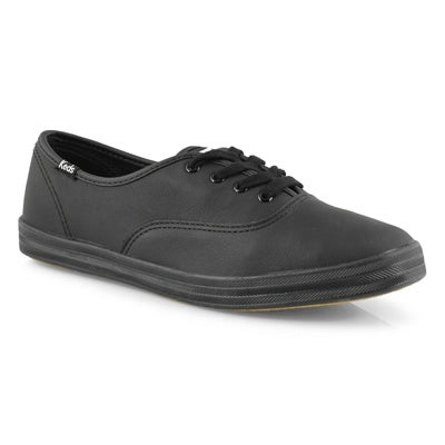 Keds Women's CHAMPION OXFORD black leather sneakers