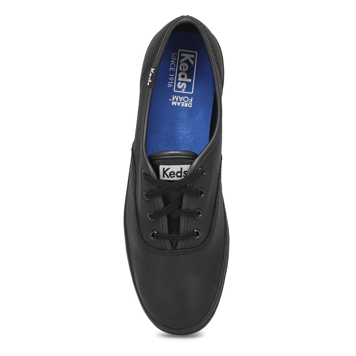 Lds Champion black leather sneaker