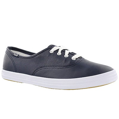 Keds Women's CHAMPION navy leather sneakers