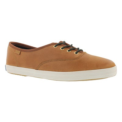 Keds Women's CHAMPION burnished leather cognac sneakers