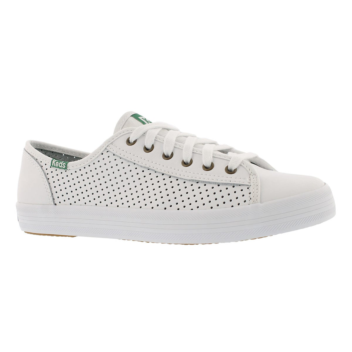 Women's KICKSTART RETRO perf white/green sneakers