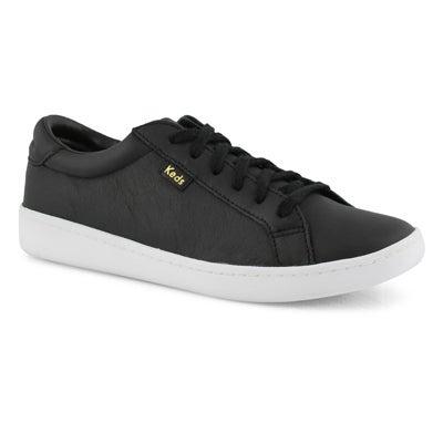 Lds Ace black/white lthr lace up sneaker