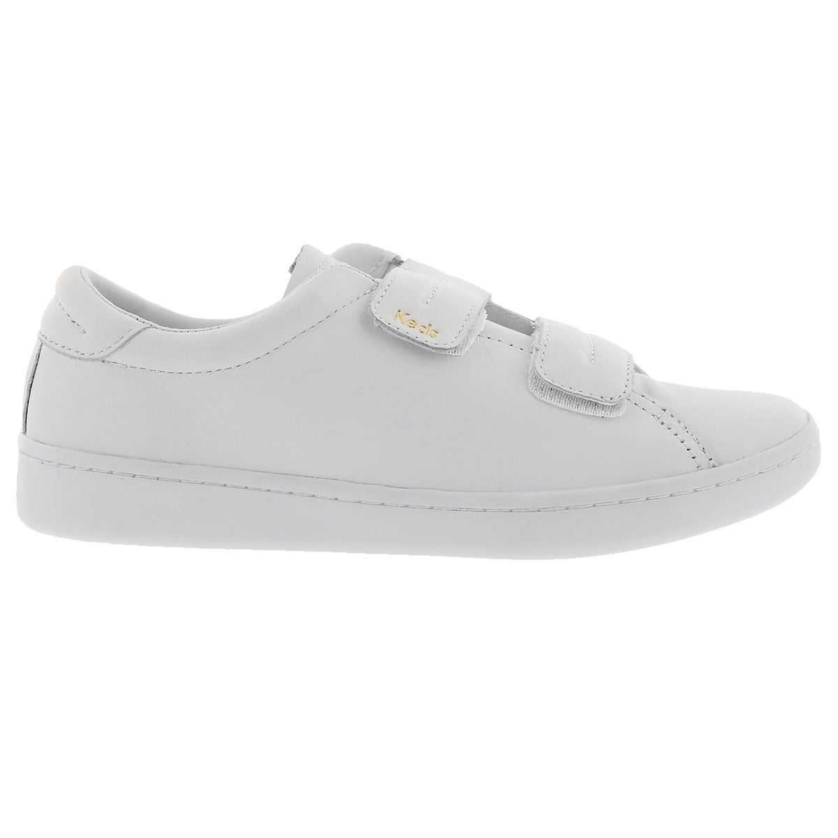 Lds Ace wht hook & loop lthr sneaker