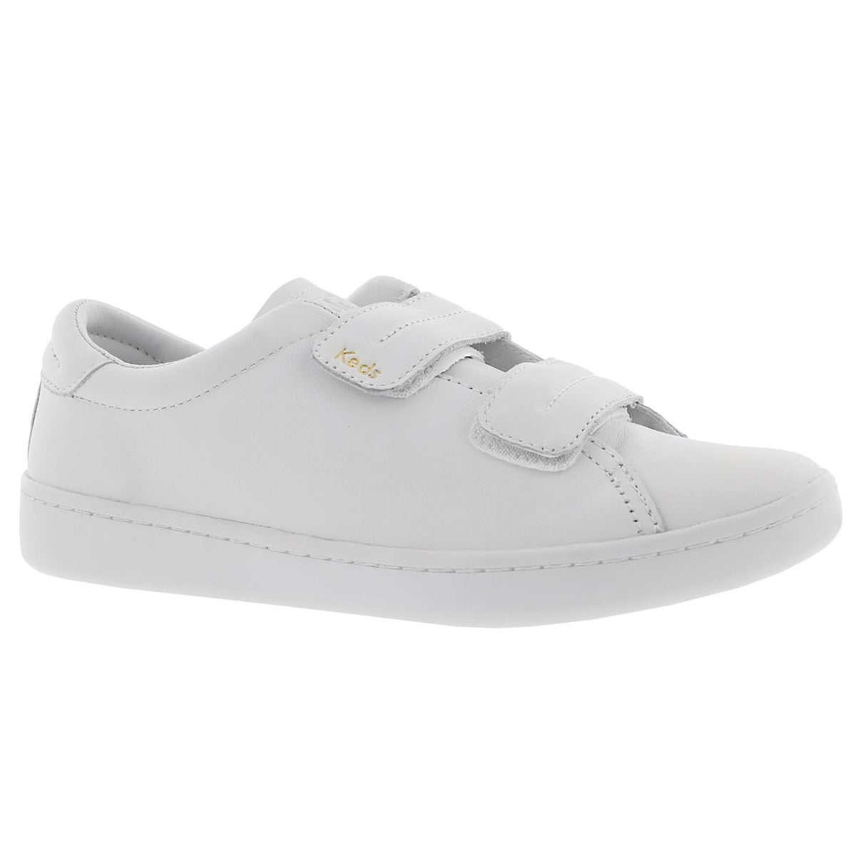 Women's ACE white hook & loop leather sneakers