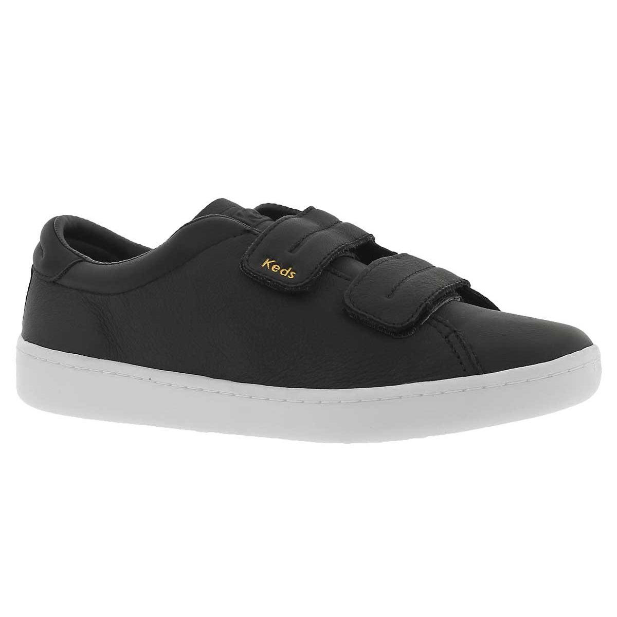 Women's ACE black hook & loop leather sneakers