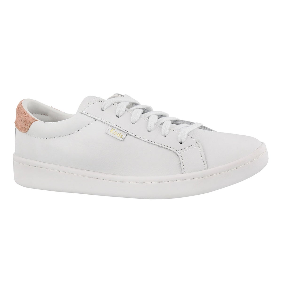 d9620a6f8a Women's ACE white/coral leather lace up sneakers