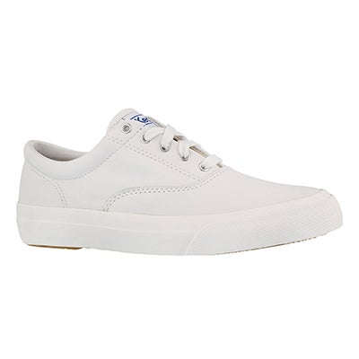 Lds Anchor white leather lace up sneaker