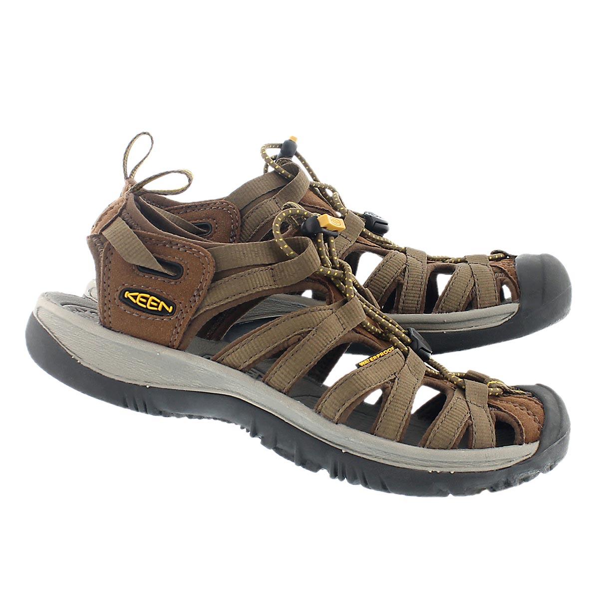 Lds Whisper cof/brn sport sandal