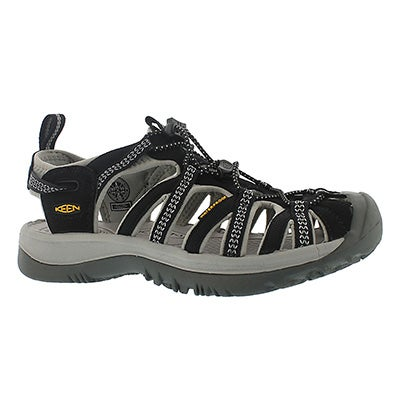 Keen Women's WHISPER black/grey sport sandals