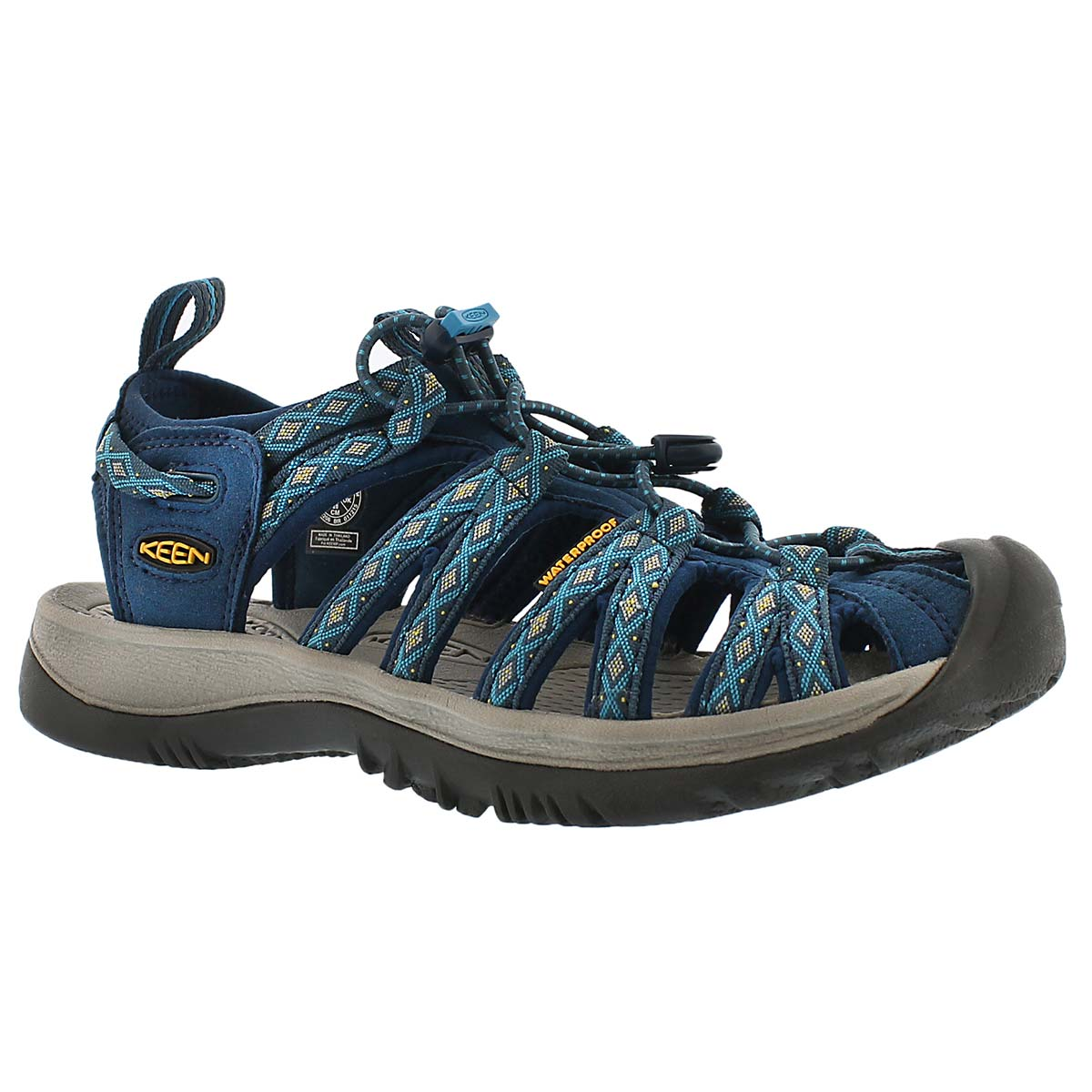Women's WHISPER poseidon/blue sport sandals