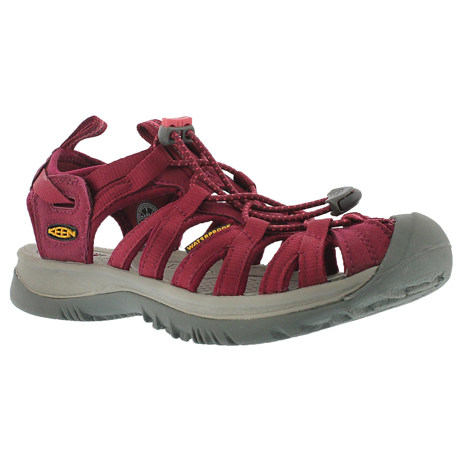 Women's WHISPER beet red sport sandals