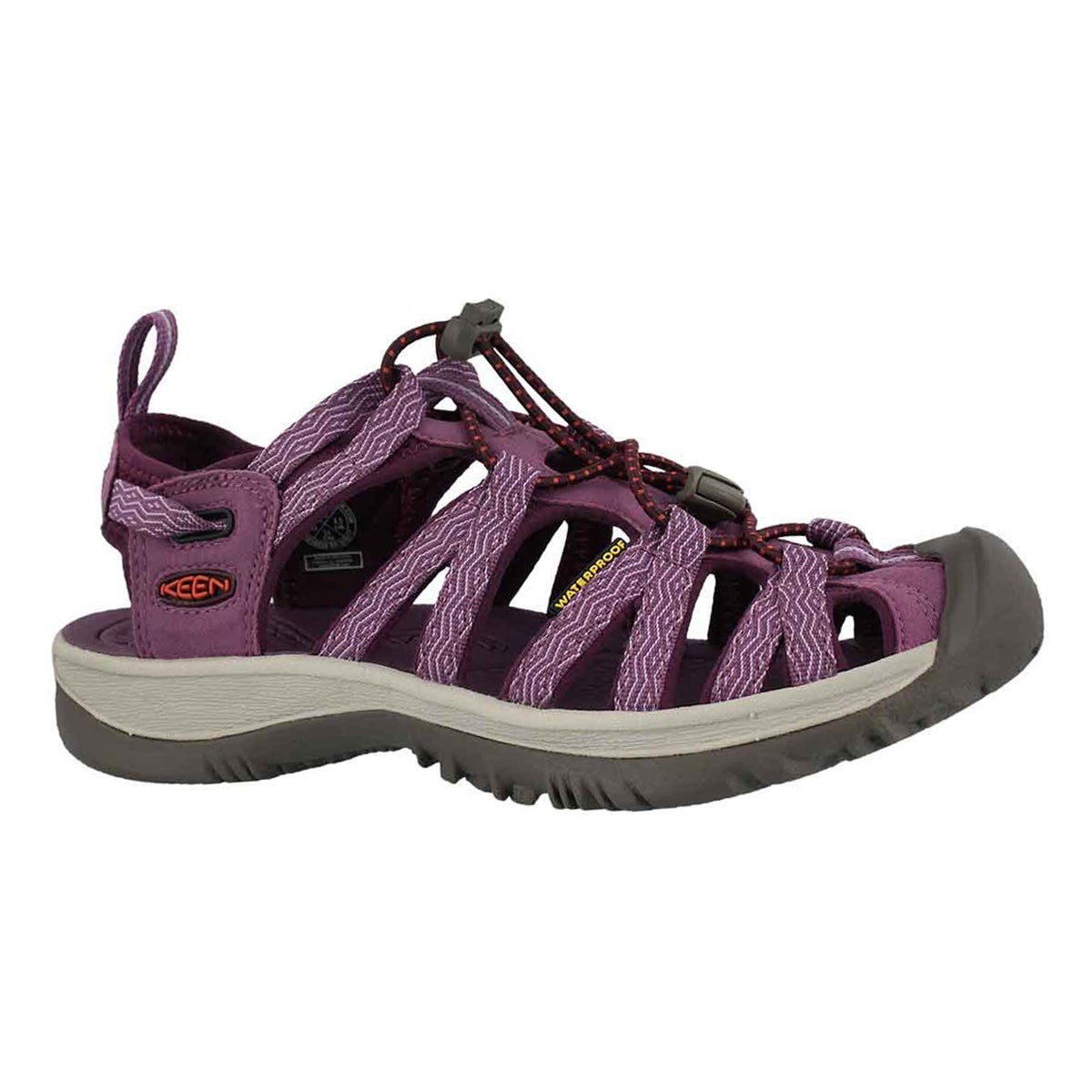 Women's WHISPER grape kiss sport sandals