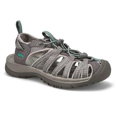Lds Whisper gry/grn sport sandal