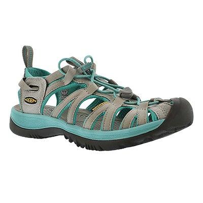Keen Women's WHISPER grey lagoon sport sandals