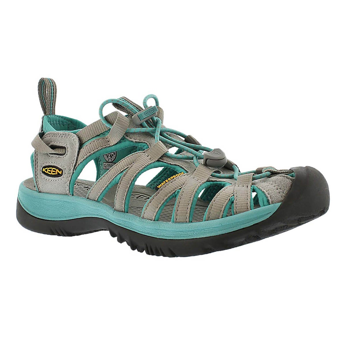 Women's WHISPER grey lagoon sport sandals