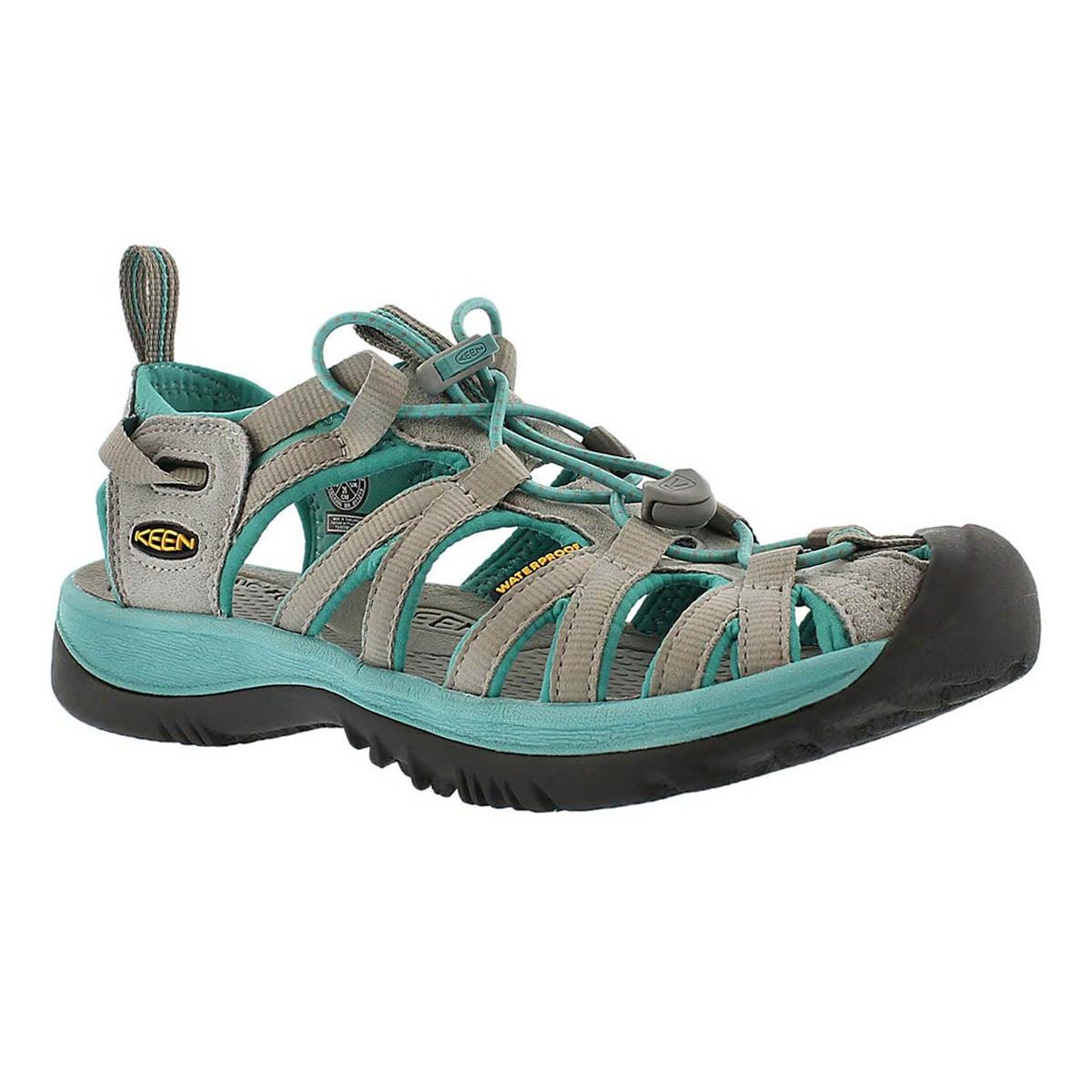 Sandale sport Whisper, gris/lagune, fem
