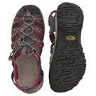 Sandale sport Whisper,aimant/sangria, fe