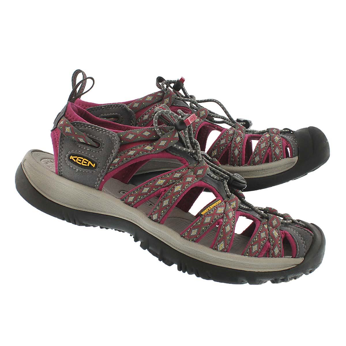 Lds Whisper magnet/sangria sport sandal