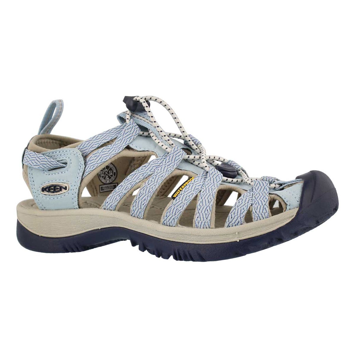 Women's WHISPER sterling blue sport sandals