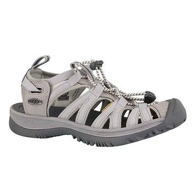 Sandale sport Whisper, vapeur/acier, fem