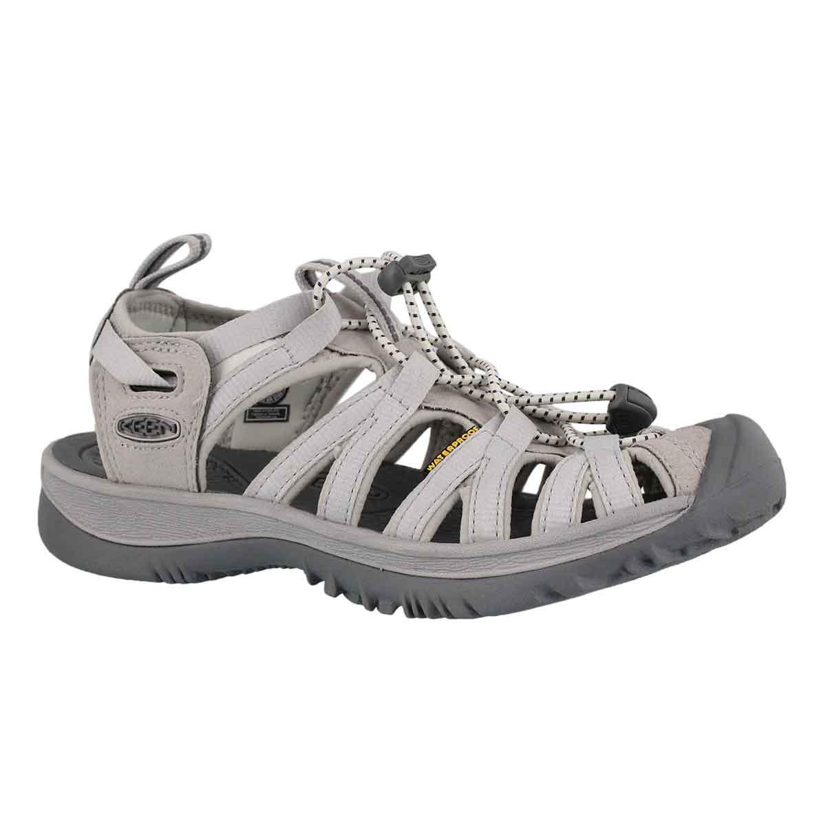 Women's WHISPER vapor/steel grey sport sandals