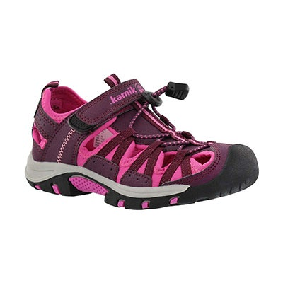 Grls Wildcat berry/pnk fisherman sandal