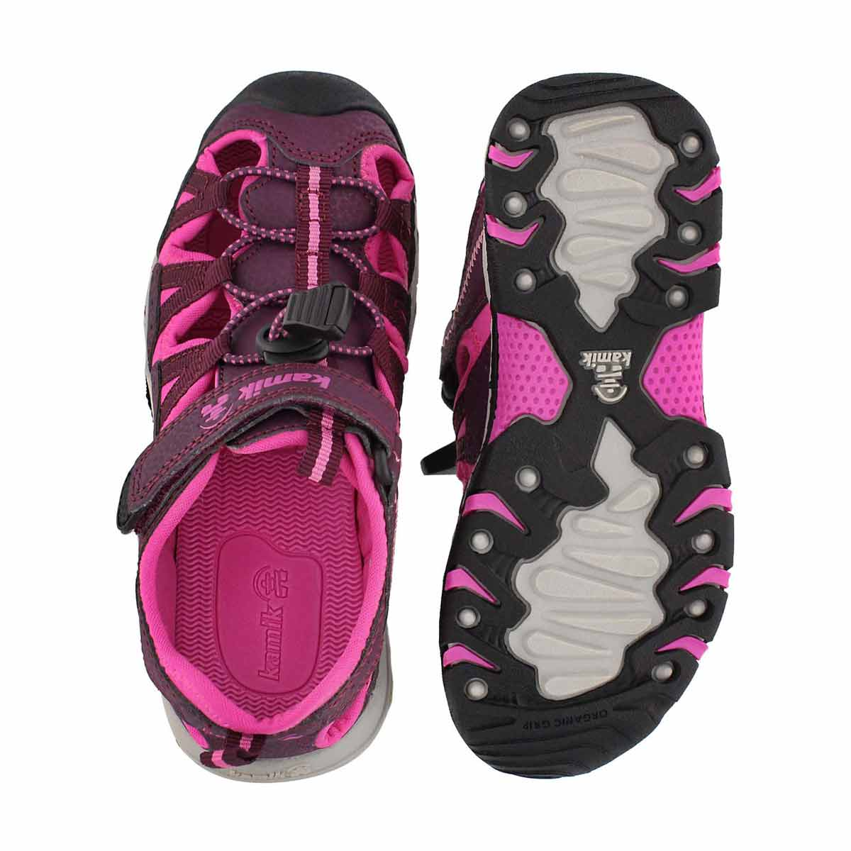 Grls Wildcat berry/pnk fisherman sandal