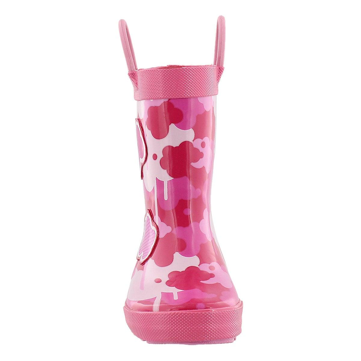 Botte de pluie Wildcloud, rose fonc, béb