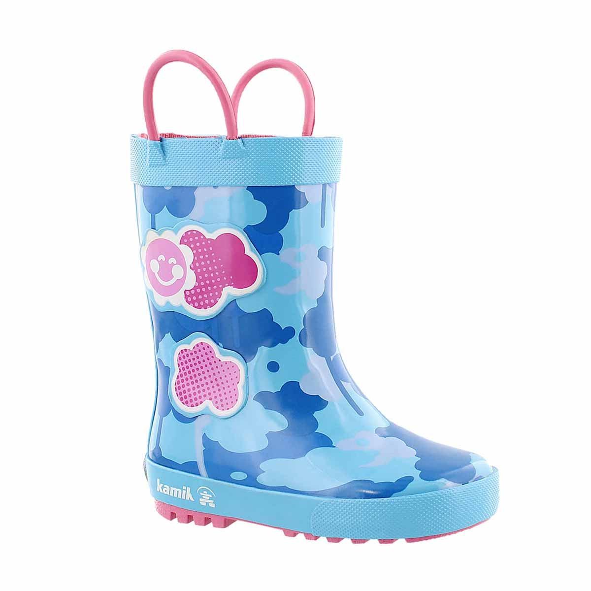 Infs Wildcloud lt blue rain boot