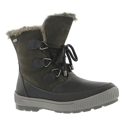 Cougar Women's WILSON black/gunmetal wtrprf winter boots