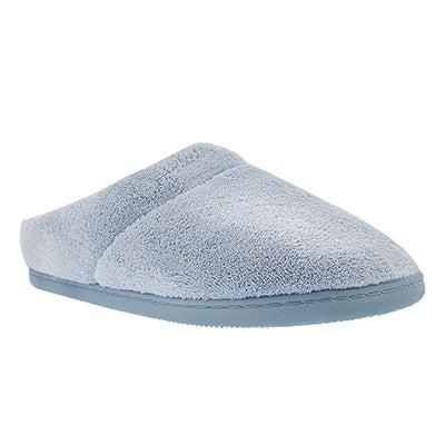 Lds Windsock blue open back slipper
