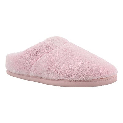 Tempur-Pedic Women's WINDSOCK pink open back slippers