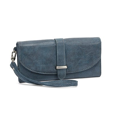 Lds Tatsi dusty blue wristlet