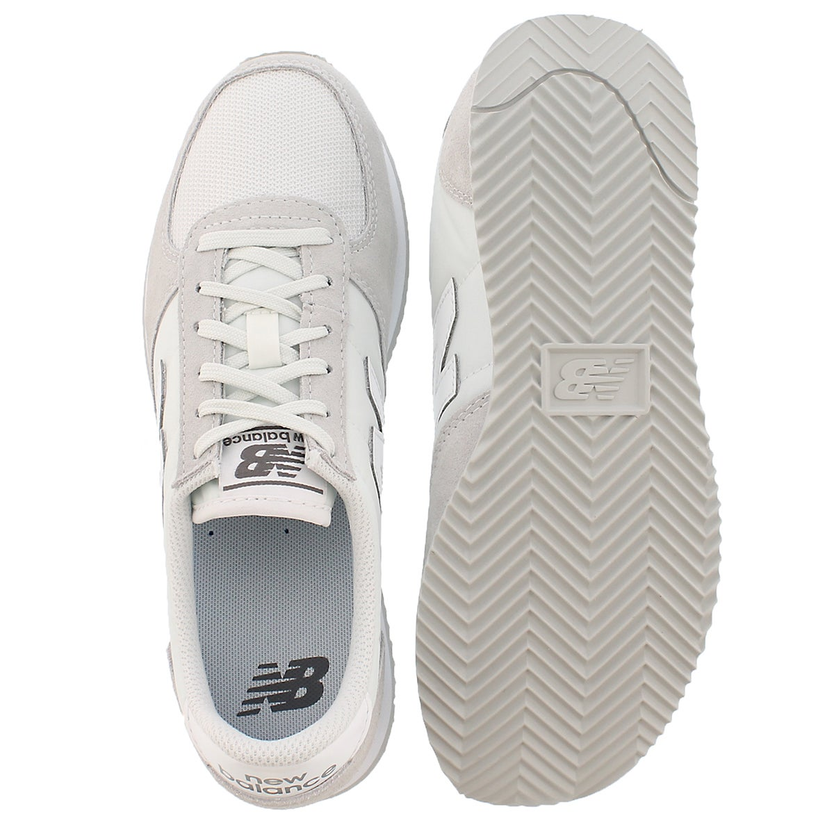 Lds 220 cloud/white lace up sneaker