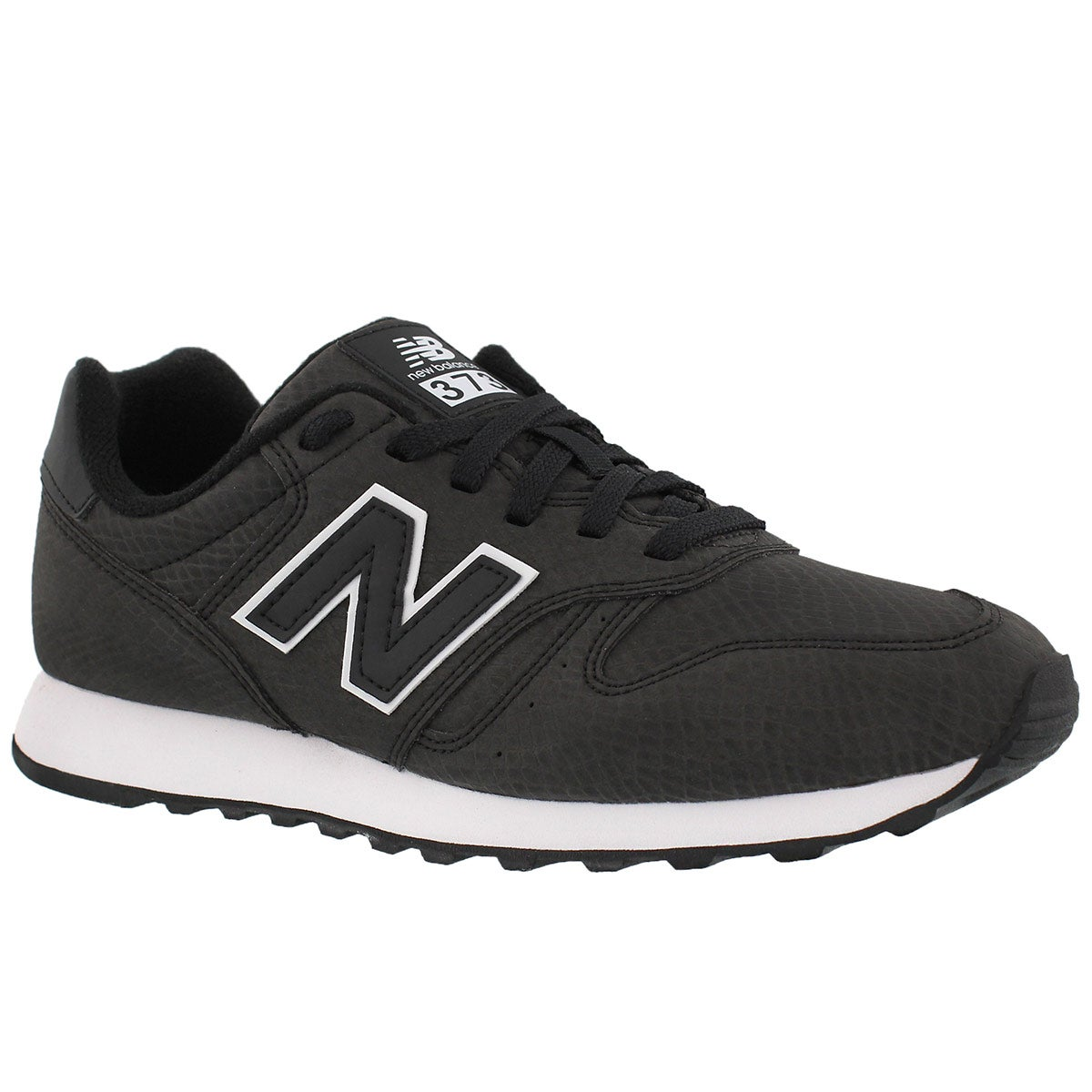 Women's 373 black lace up running shoes