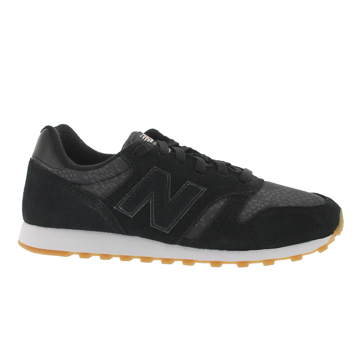 Lds 373 black lace up running shoe