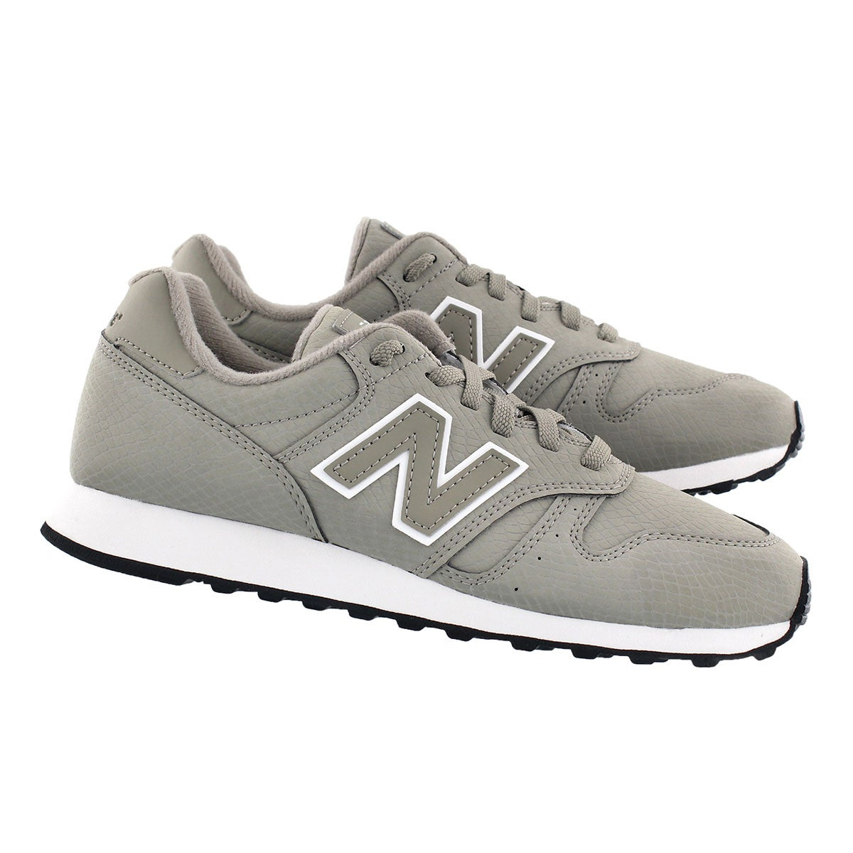 Lds 373 grey lace up running shoe