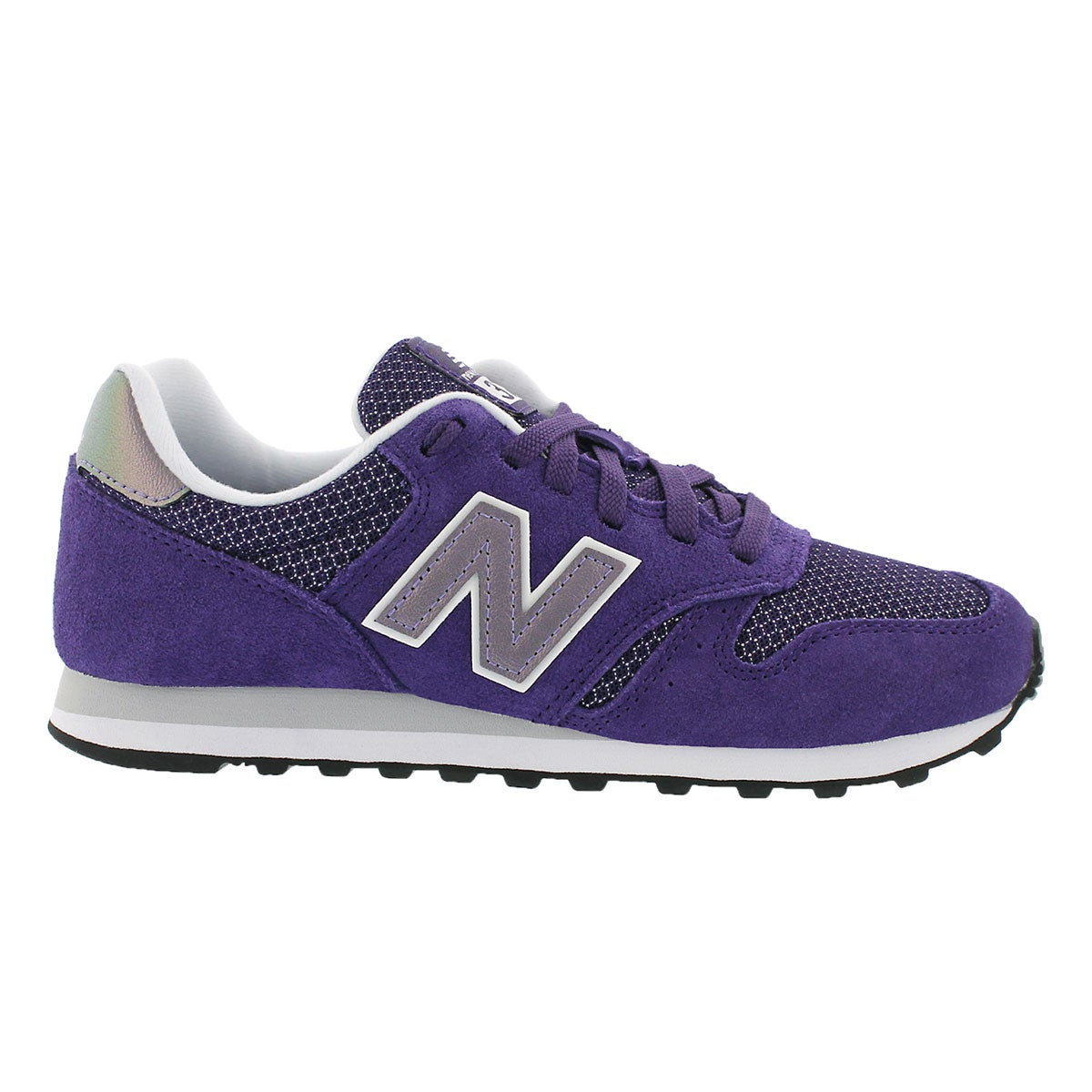 Lds 373 purple lace up running shoe