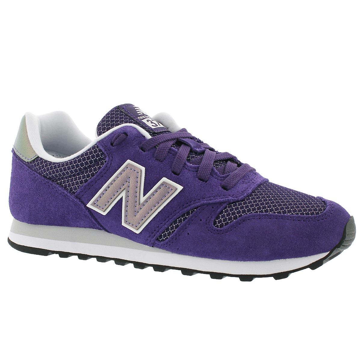 Women's 373 purple lace up running shoe